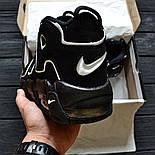 Мужские кроссовки Air More Uptempo black. Живое фото (Реплика ААА+), фото 3