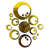 """Настенные 3D часы с зеркальным эффектом """"Сфера"""""""