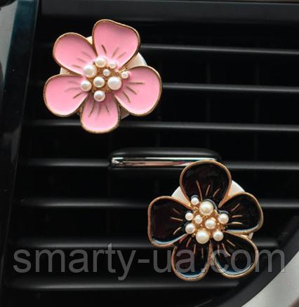 Автомобильный ароматизатор воздуха Цветы 3 цвета + таблетка пахучка