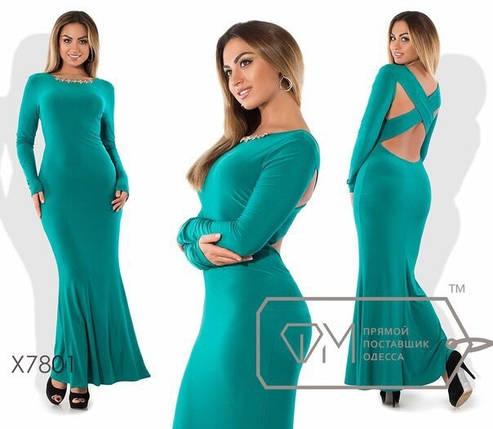 """Платья в пол с открытой спиной ткань """"Креп - Масло"""" 48 размеры батал, фото 2"""