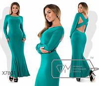 """Платья в пол с открытой спиной ткань """"Креп - Масло"""" 48, 56 размеры батал"""