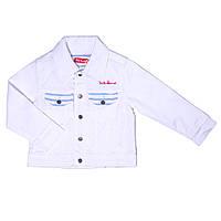Джинсовый пиджак для девочки 4-14 лет (р. 104-164) ТМ Little Marcel Белый LMER1078-white