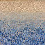 Палантин Ромбики П-00127, біло-блакитно-синій, 140х90, оренбурзький шарф (палантин) козячий пух, фото 4