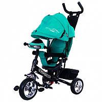 """BabyTilly Велосипед 3-х колёсный """"Tilly TITAN"""" бирюзовый/коричневый/серый/синий/фиолетовый/красный"""