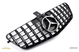 Решетка радиатора Mercedes w212 (09-13) тюнинг стиль AMG GT-R (черный глянц + хром звезда)
