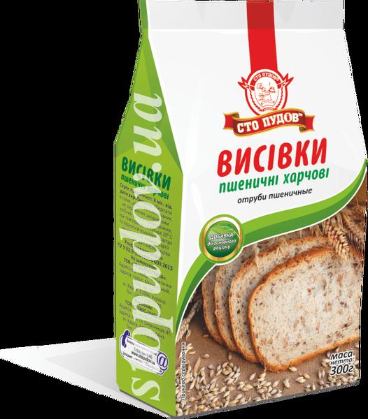 """Отруби пшеничные 300г """"Сто пудов"""""""