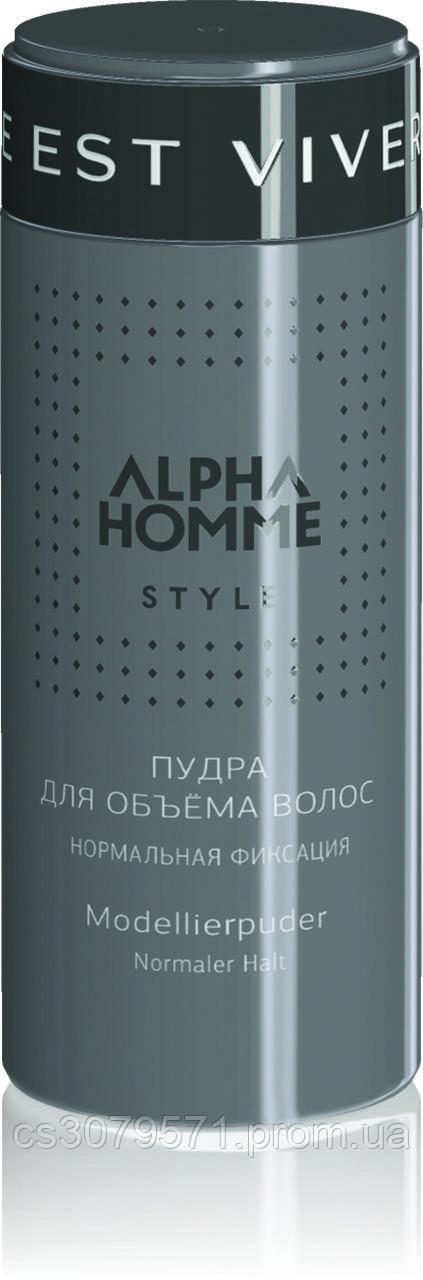 Пудра для волос Estel Professional Alpha Homme, 8 г