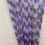 Палантин Гребешок П-00128, сиренево-черничный, 170х70, оренбургский шарф (палантин) козий пух, фото 4