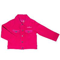 Джинсовый пиджак для девочки 8, 12 лет (р. 128, 152) ТМ Little Marcel Розовый LMER1078-fuchsia