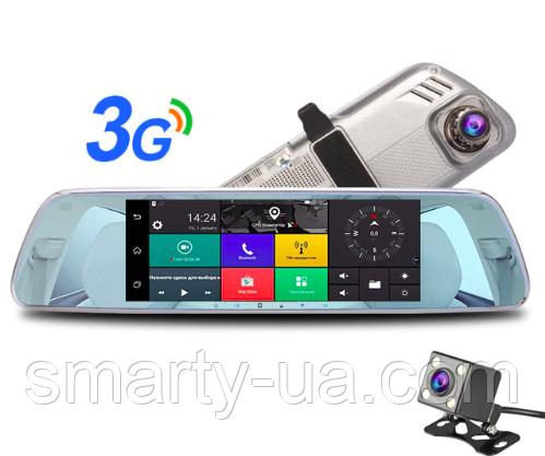 АВТО ЗЕРКАЛА GPS видеорегистратор с 2мя камерами и множеством функций Android 5.0