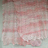 Палантин Гребешок П-00129, розовый, 180х85, оренбургский шарф (палантин) козий пух, фото 2