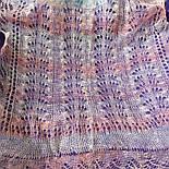Палантин Гребешок П-00129, розовый, 180х85, оренбургский шарф (палантин) козий пух, фото 3