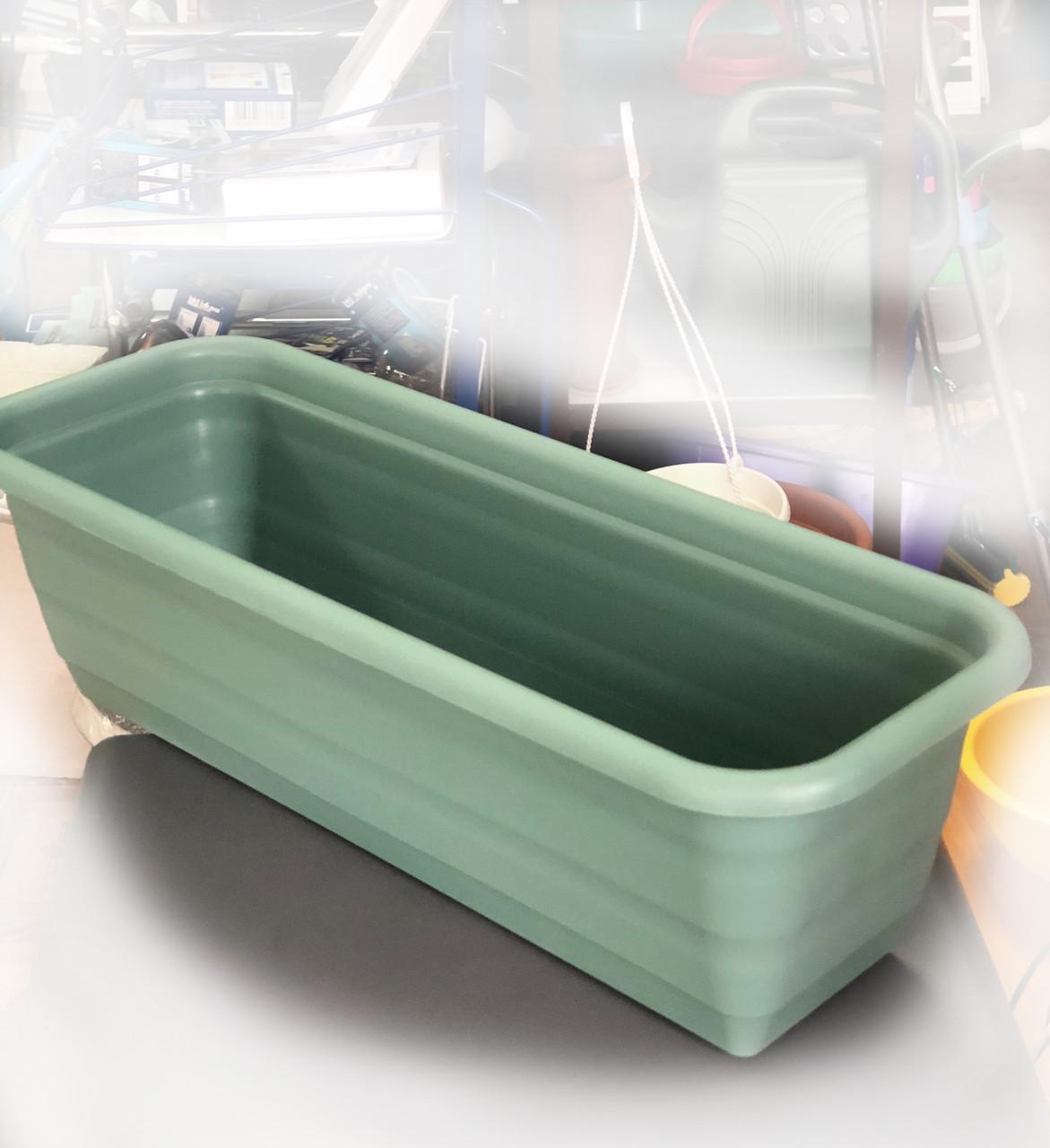Балконний ящик пластиковий, 500мм, Зелений