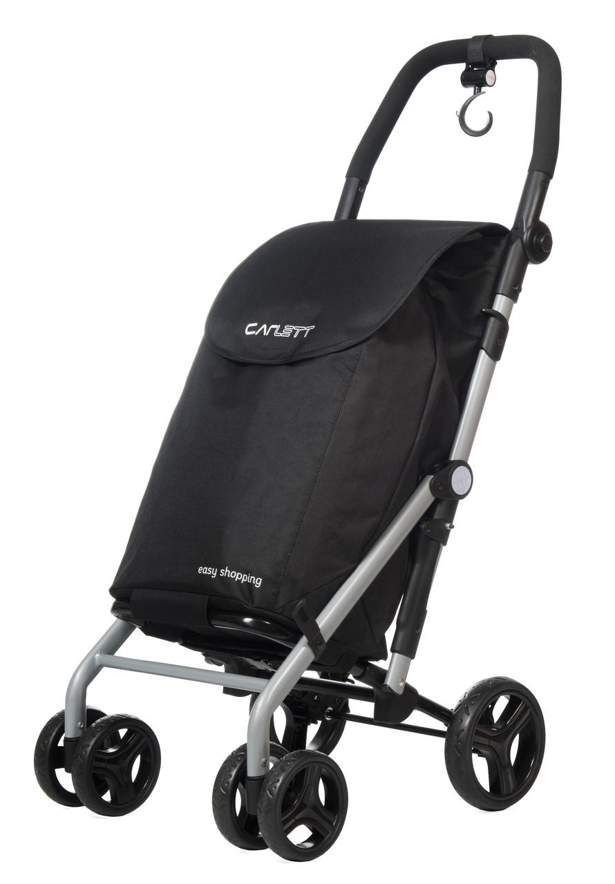 Сумка-тележка Carlett хозяйственная на колесах 38 черная (Lett430-1)