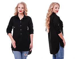 Рубашка женская Стиль черная, фото 2