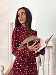 Красиве жіноче плаття в горошок з рюшами (в кольорах), фото 2