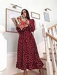 Красиве жіноче плаття в горошок з рюшами (в кольорах), фото 4