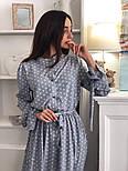 Красиве жіноче плаття в горошок з рюшами (в кольорах), фото 3