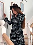 Красиве жіноче плаття в горошок з рюшами (в кольорах), фото 5