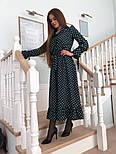 Красиве жіноче плаття в горошок з рюшами (в кольорах), фото 6