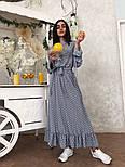 Красиве жіноче плаття в горошок з рюшами (в кольорах), фото 8