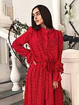 Красиве жіноче плаття в горошок з рюшами (в кольорах), фото 9