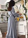 Красиве жіноче плаття в горошок з рюшами (в кольорах), фото 10