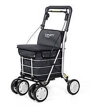 Сумка-візок Carlett Comfort з сидінням на колесах 29 л чорна (800-5)
