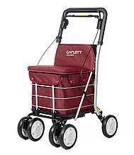Сумка-візок Carlett Comfort з сидінням на колесах 29 л червона (800-6)