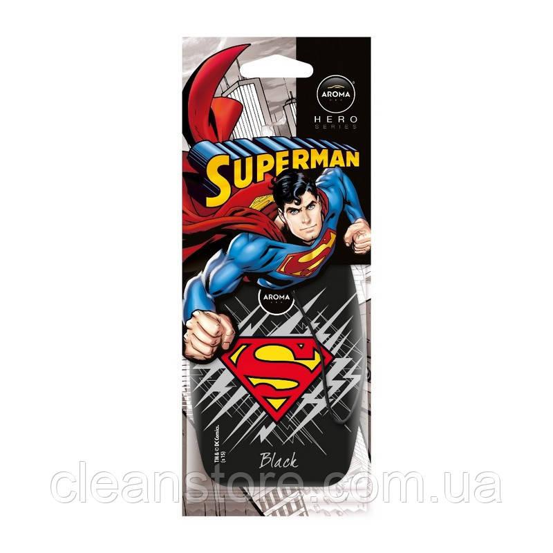 Ароматизатор Aroma Car Hero Superman Black