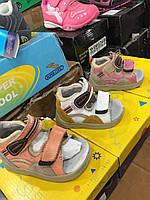 Сандалии кожаные для детей на липучках S.sunny оптом Размеры 18,22, фото 1