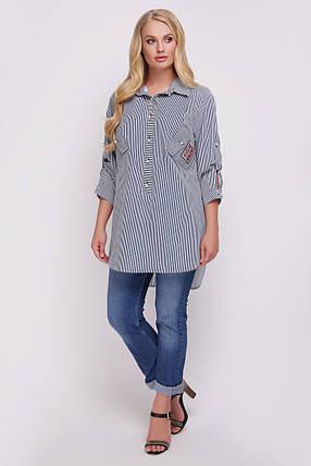 Рубашка женская Стиль черно-белая, фото 2