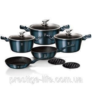 Набор посуды Berlinger Haus Metallic Line Aquamarine Edition BH-1884 10 пр