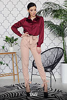 Женские модные брюки с высокой посадкой (в расцветках)