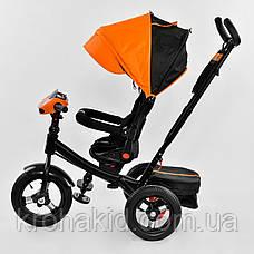 Велосипед 6088 F - 3020 Best Trike ОРАНЖЕВЫЙ ПОВОРОТНОЕ СИДЕНИЕ, СКЛАДНОЙ РУЛЬ, НАДУВНЫЕ КОЛЕСА, фото 2