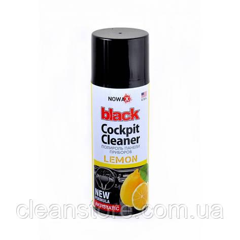 Полироль панели приборов NOWAX NX00202 Black Cockpit Cleaner Lemon 200мл, фото 2