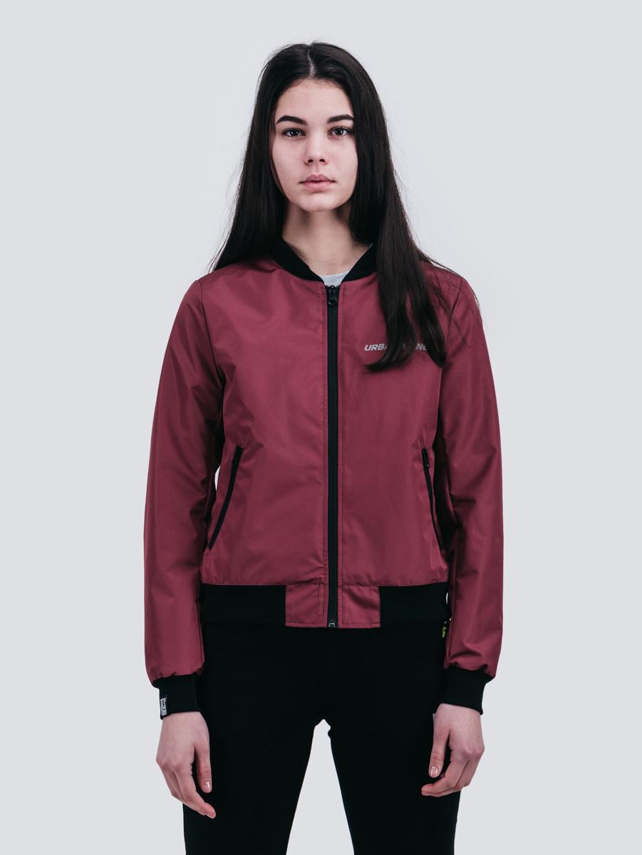 93c5d65575b Куртка женская бомбер бордовый Urban Planet BORDO (женская куртка ...