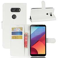 Чохол-книжка Litchie Wallet для LG V30 Білий