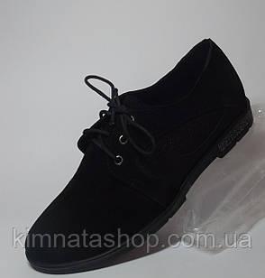 Туфлі жіночі шкіряні на танкетці чорні Mona Black , весна/осінь, розмір 36-41