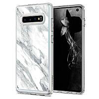 Чохол Spigen для Samsung Galaxy S10 plus Ciel by CYRILL, Marble White (606CS25789)