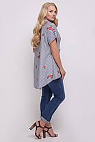 Рубашка женская Ангелина вышивка черно-белая Размеры 48, 50, 52, 54, 56, 58., фото 2