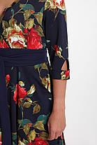 Платье расклешенное Луиза крупные розы Размеры 50, 56, фото 3