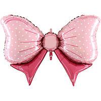 Фольгированный шар Бант розовый 60х85 см