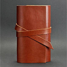 Кожаный блокнот ежедневник со сменными листами (Софт-бук) 1.0 Коньяк