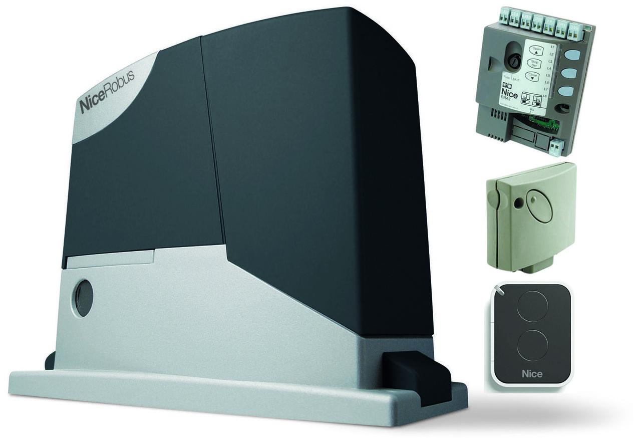 NICE Robus 400 KCE — автоматика для відкатних воріт (стулка до 400 кг)