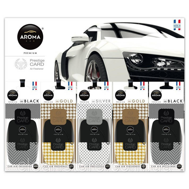 Планшет ароматизаторов Aroma Car Prestige Card микс (25 шт)