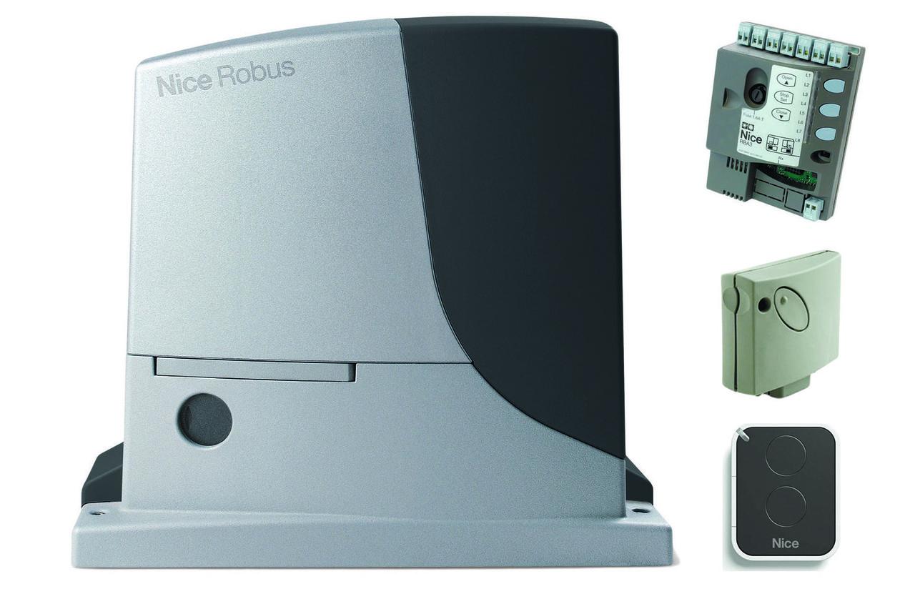 Nice Robus 600 — автоматика для откатных ворот (створка до 600 кг)