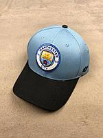 Футбольная кепка Манчестер Сити голубая