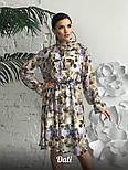 Женское шифоновое платье с цветочным принтом (2 цвета), фото 2