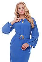 Платье женское Екатерина василькового цвета 52,54,56,58, фото 2
